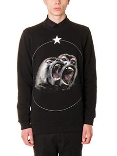 Givenchy-Felpa Monkey in cotone nero