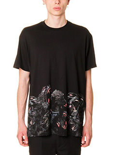 Givenchy-T-Shirt Over  Monkey in cotone nero