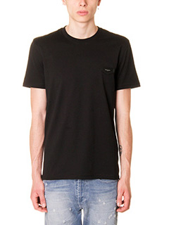 Givenchy-T-Shirt  Logo  in cotone nero