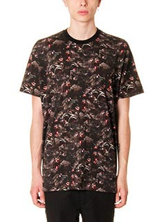 Givenchy-T-Shirt All Over  Monkey in cotone nero