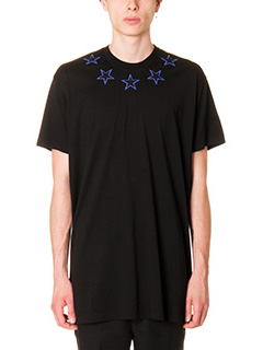 Givenchy-T-Shirt Stelle  in cotone nero