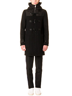 Givenchy-Montgomery in lana e tessuto tecnico nero