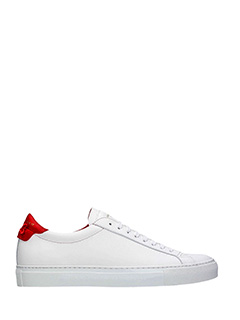 Givenchy-Sneakers Low Urban Street in pelle bianca rossa