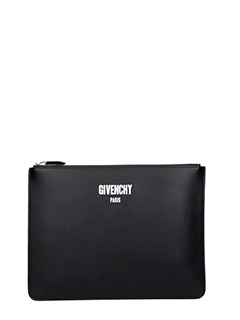 Givenchy-Pochette Zipped Pouch Large in pelle nera