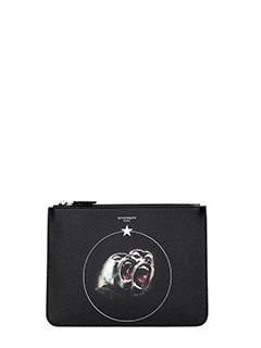 Givenchy-Pochette Zipped Pouch Babbuino Medium in pelle nera