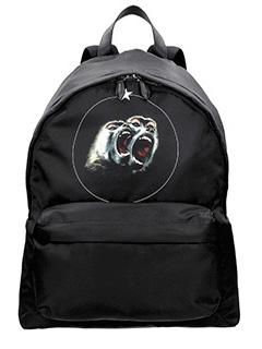 Givenchy-Zaino in nylon nero stampa babbuino