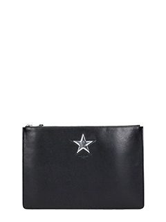 Givenchy-Classic Pouch Large black leather clutch