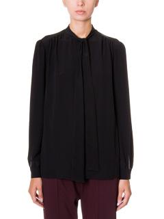 Givenchy-lon slevees top black silk shirt
