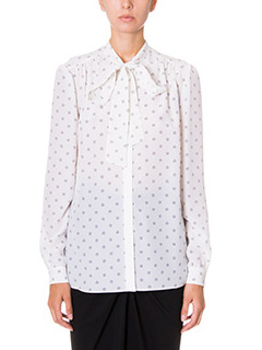 Givenchy-Camicia in seta bianca stampa stelle
