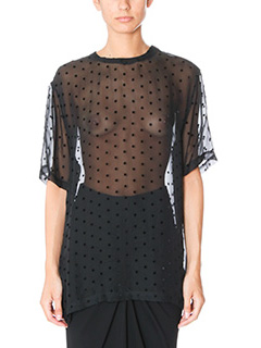Givenchy-Blusa Star Embroidered in seta e viscosa nera