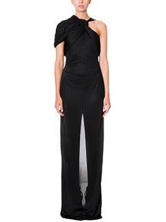 Givenchy-Vestito lungo in jersey nero