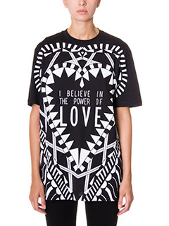 Givenchy-T-Shirt Believe Print in cotone nero