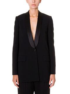 Givenchy-Blazer in lana e raso nero