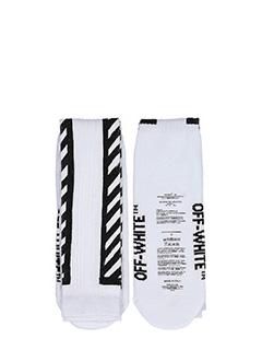 Off White-Calzini Diagonals Sock in nylon e cotone bianco