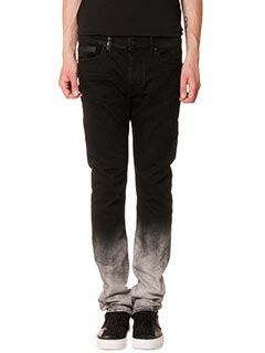 Marcelo Burlon-Jeans Slim Fit  in denim nero grigio