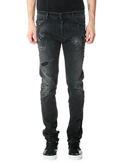 Marcelo Burlon-Jeans Regular Fit in denim nero