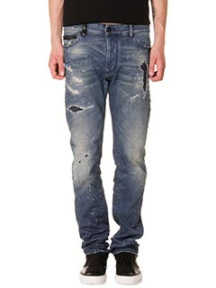 Marcelo Burlon-Jeans Regular Fit  in denim blue