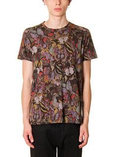 Valentino-T-Shirt in cotone multicolor stampa farfalle