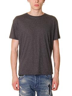 Valentino-T-Shirt in cotone antracite