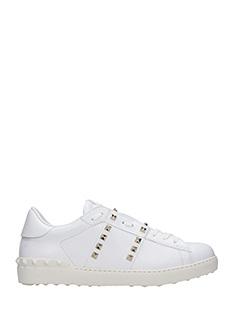 Valentino-Sneakers basse Open in pelle bianca