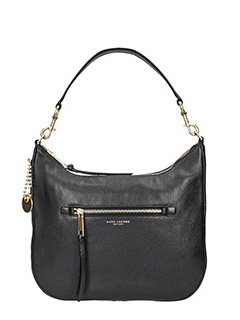 Marc Jacobs-Borsa Recruit Leather Hobo in pelle nera