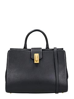 Marc Jacobs-Borsa West End Large Top Handle in pelle nera