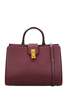 Marc Jacobs-Borsa West End Large Top Handle in pelle bordeaux