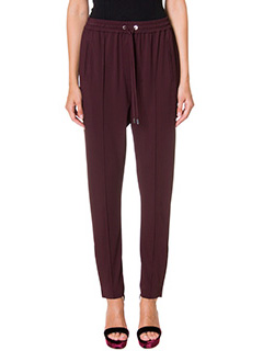 Givenchy-Pantaloni in cr�pe bordeaux