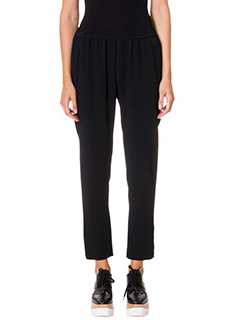 Stella McCartney-Pantaloni Tamara in cr�pe nera