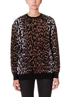 Stella McCartney-Magilia in lana stampa animalier