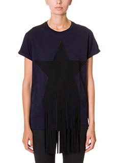 Stella McCartney-T-Shirt in cotone blue