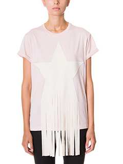 Stella McCartney-T-Shirt in cotone rosa