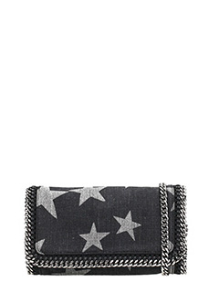 Stella McCartney-Clutch  Falabella Cross Body in tessuto nero