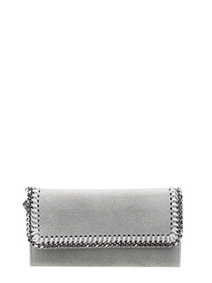 Stella McCartney-Flap Wallet Falabella in shaggy deer grigio