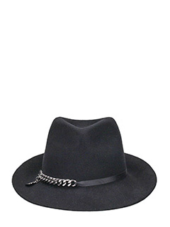 Stella McCartney-Cappello in lana nera