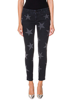 Stella McCartney-printed Stars black denim jeans