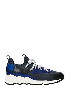 Pierre Hardy-Sneakers Treck Comet in pelle e  nylon blue  nero