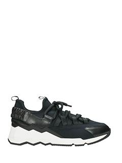Pierre Hardy-Sneakers Treck Comet in pelle e  nylon nero