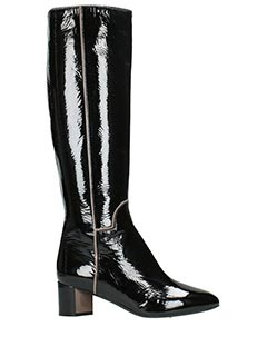 Pierre Hardy-Stivale Belle High Boot in vernice nera