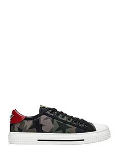 Valentino-Sneakers basse Camustars  in pelle  camouflage verde