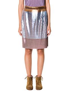 Golden Goose Deluxe Brand-Skirt Pliss� blue polyester skirt