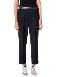Golden Goose Deluxe Brand-Pantaloni Jessica in lana blue