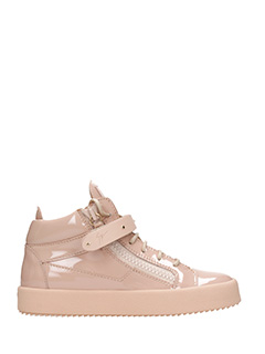 Giuseppe Zanotti-Sneakers mid in vernice rosa