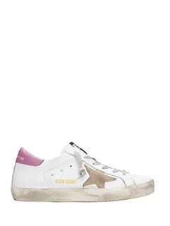 Golden Goose Deluxe Brand-Sneakers Superstar in pelle bianca lilla