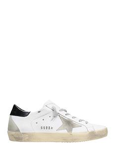 Golden Goose Deluxe Brand-Sneakers Superstar in pelle bianca nera