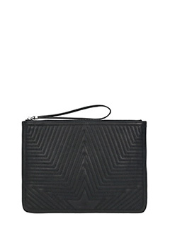 Golden Goose Deluxe Brand-Juliette black leather clutch