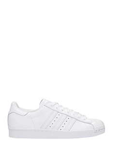 Adidas-Sneakers Superstar 80S in pelle bianca -lacci