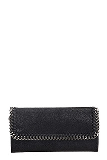 Stella McCartney-Pochette  Flap Wallet Falabella in shaggy deer nero