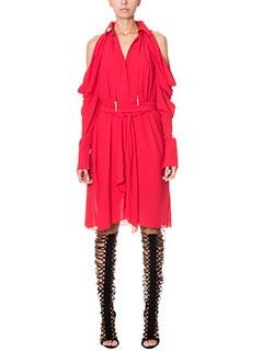 LA MANIA-Vestito Alkai in crepe rossa