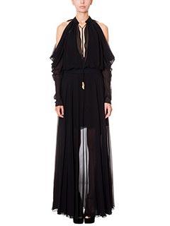 LA MANIA-Vestito Tellea in chiffon nero